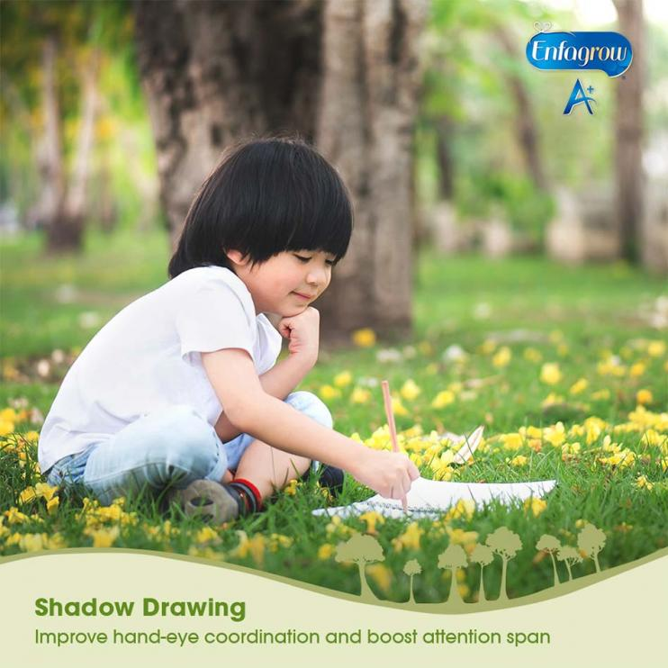toddler shadow drawing