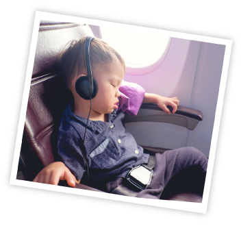 entertain toddlers with music in flight