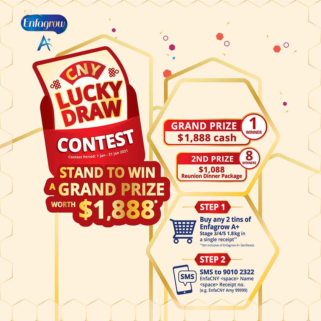 CNY Lucky Draw Contest, stand a chance to win a grand prize worth $1,888!