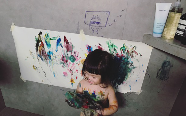 Introducing paints to baby