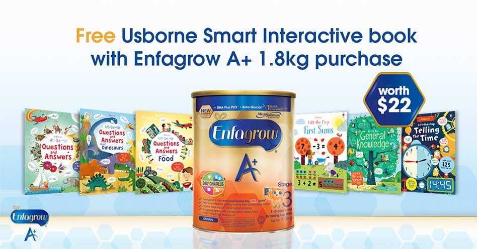 FREE Usborne Smart Interactive Book | Enfagrow Singapore