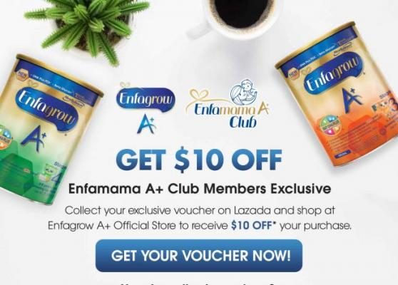 Get $10 Off Exclusive for Enfamama A+ Club Members